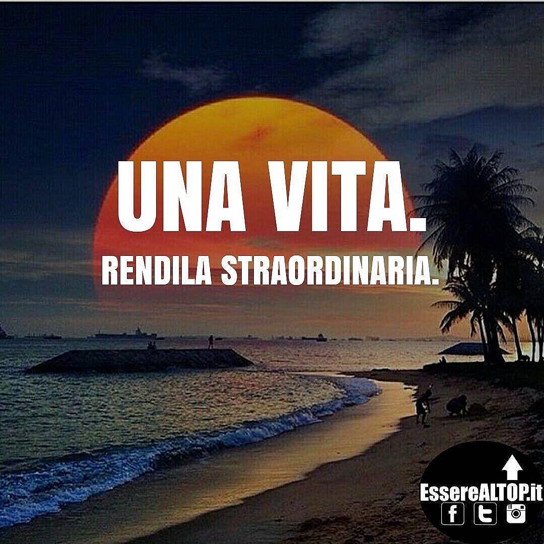 Hai una sola chance. Fai del tuo meglio. www.EssereALTOP.it #Motivazione #Ispirazione #ItalianHustlers #Crescita