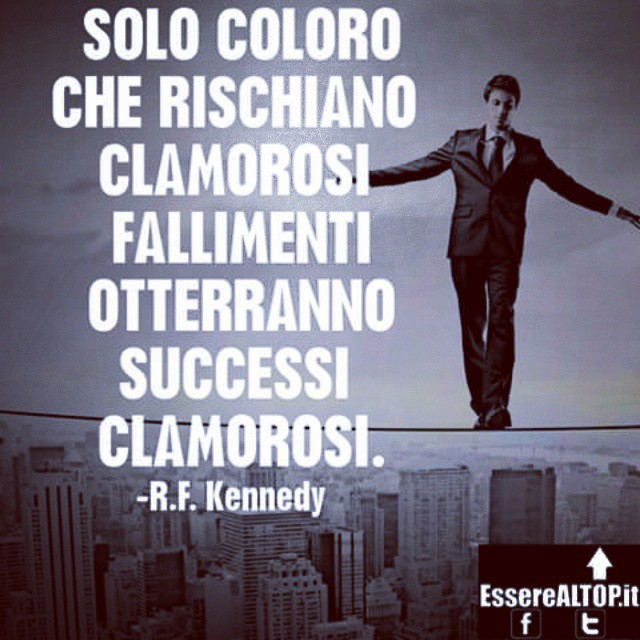 RISCHIARE qualcosa è INEVITABILE nel RAGGIUNGIMENTO DEL SUCCESSO. È fondamentale, però, CALCOLARE NEL MINIMO DETTAGLIO ogni rischio. www.EssereALTOP.it #TOP #BUSINESS #SUCCESSO #SUCCESS #MOTIVAZIONE #STARTUP #GUADAGNARE #MakeMONEY #CrescitaPersonale #ITALY #IMPRESA #IMPRENDITORIA #ENTREPRENEURSHIP #MONEY #RICH #LUXURY #marketing #management #instarich #capital #frase #quotes #quoteoftheday #lifeSTYLE #company #amazing #determination #MILLIONAIRE #BILLIONAIRE